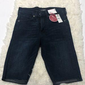 Express Bermuda high rise jean shorts nwt